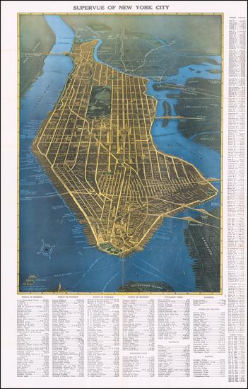 83-New York City Map By Samuel Freedman