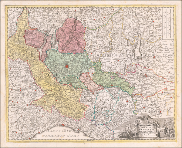 53-Northern Italy Map By Johann Baptist Homann