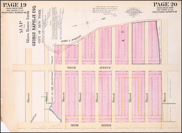 96-New York City Map By Spielmann & Brush