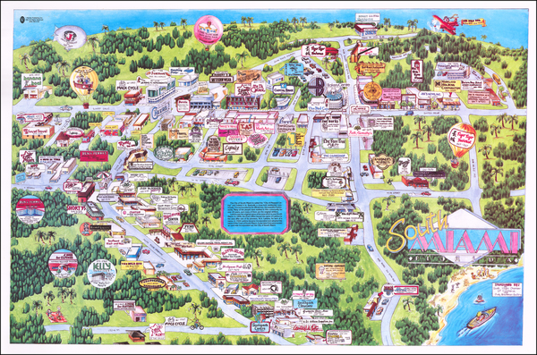 43-Florida and Pictorial Maps Map By Ranlee Publishing Inc.