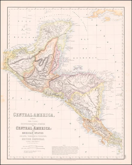 83-Mexico and Central America Map By Archibald Fullarton & Co.