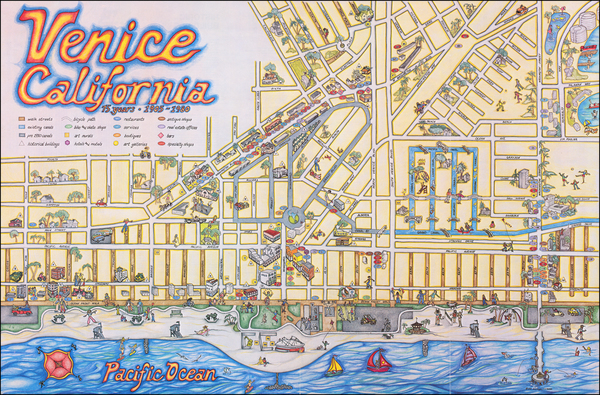 98-Pictorial Maps, California and Other California Cities Map By C. June Barton / R. Greenway Frag