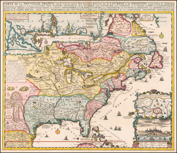 27-United States, South, Midwest and Canada Map By Henri Chatelain