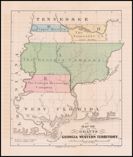 Map Of Georgia 1865.Antique Maps Of Georgia Barry Lawrence Ruderman Antique Maps Inc