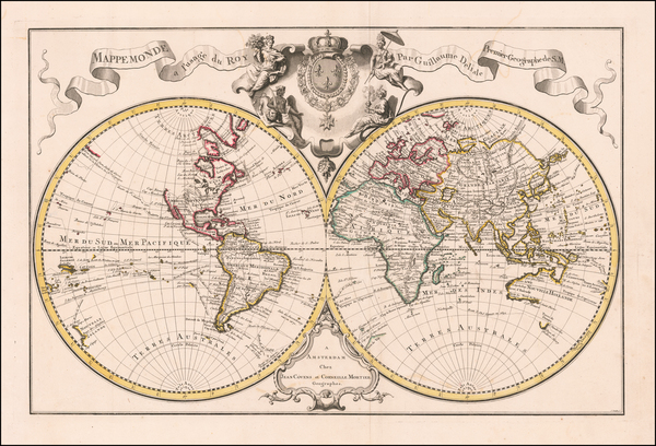27-World Map By Johannes Covens  &  Cornelis Mortier