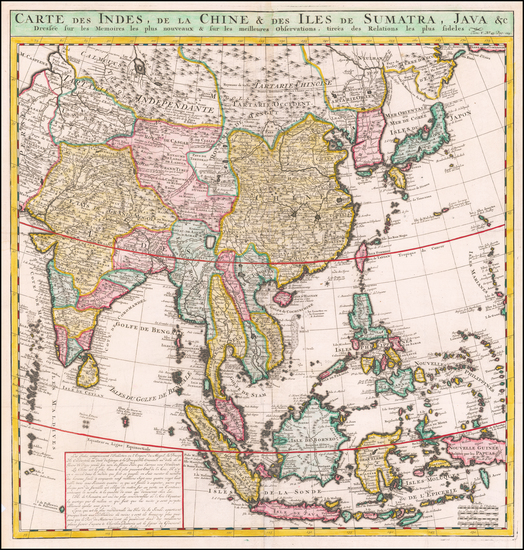 Asia, China, Japan, Korea, India & Sri Lanka, Southeast Asia, Philippines, Other Islands and Central Asia & Caucasus Map By Henri Chatelain