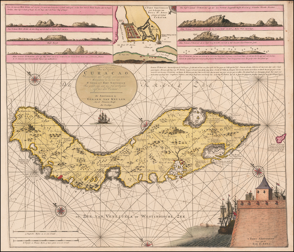 91-Caribbean and Other Islands Map By Gerard Van Keulen
