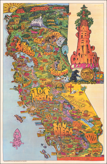 California and Pictorial Maps Map By Darrel Millsap