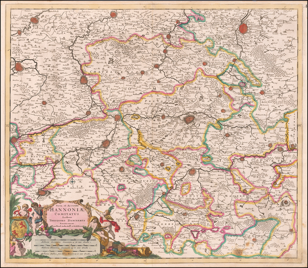66-Belgium Map By Theodorus I Danckerts