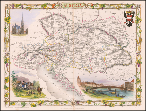 100-Austria Map By John Tallis
