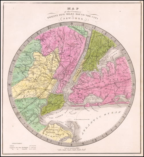 41-New York City Map By David Hugh Burr