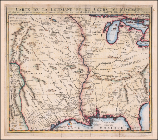 11-South, Southeast, Texas, Midwest, Plains, Southwest and Rocky Mountains Map By J.F. Bernard