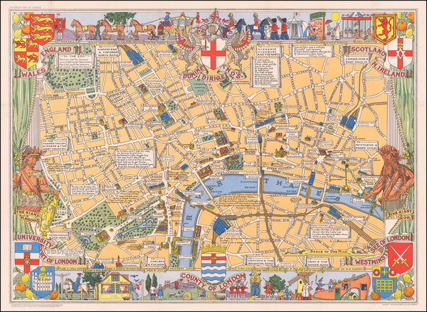 15-London and Pictorial Maps Map By John Bartholomew