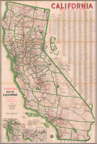 57-California Map By W. Elliott Judge