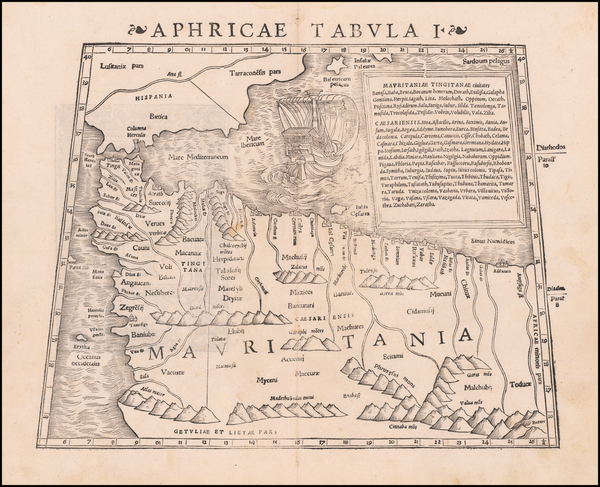 Spain and North Africa Map By Sebastian Münster