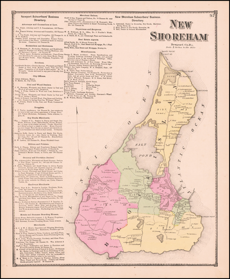 Rhode Island Map By D.G. Beers