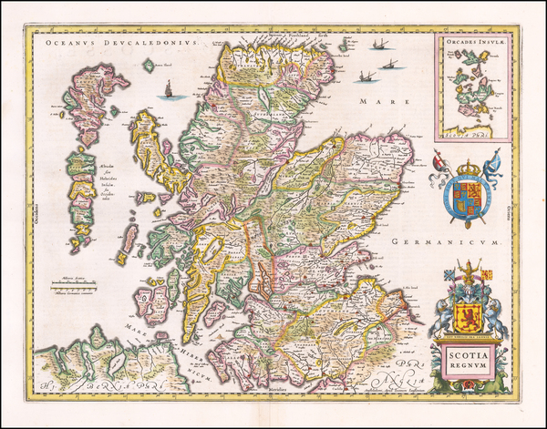 91-Scotland Map By Jan Jansson