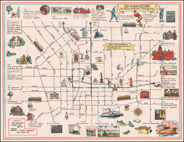 59-Maryland and Pictorial Maps Map By Schneidereith & Sons