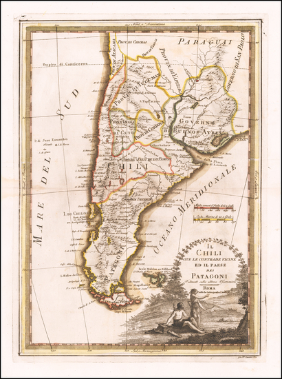 37-Argentina and Chile Map By Giovanni Maria Cassini