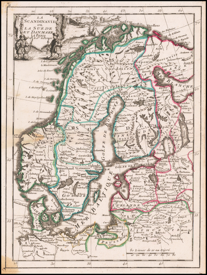 62-Scandinavia Map By George Louis Le Rouge