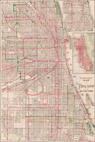 87-Illinois and Chicago Map By George F. Cram / Rufus Blanchard