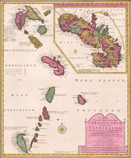 88-Other Islands and Martinique Map By Reiner & Joshua Ottens