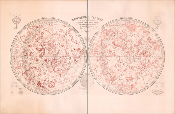 Celestial Maps Map By Auguste Logerot