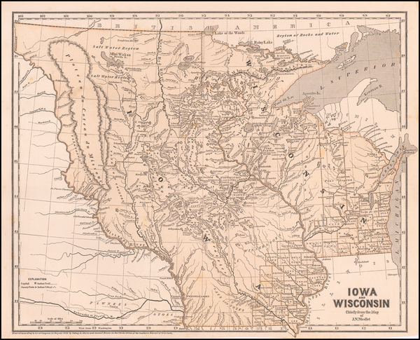 54-Minnesota, Wisconsin, Iowa, North Dakota and South Dakota Map By Sidney Morse  &  Samuel Br