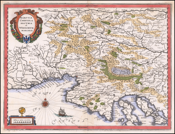 56-Balkans and Italy Map By Matthaeus Merian