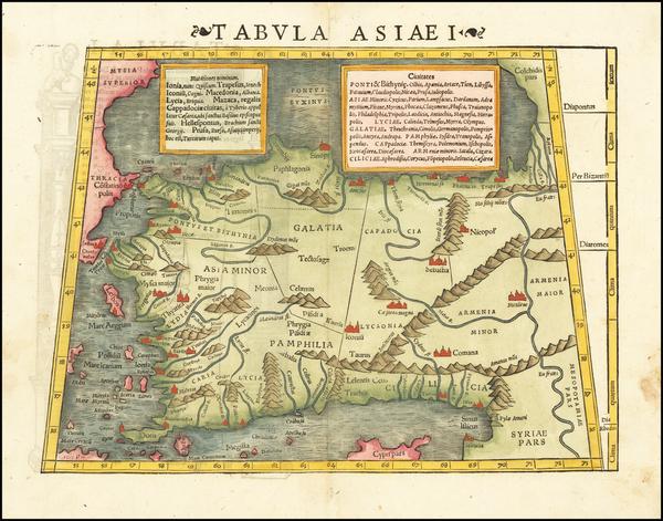 52-Turkey and Turkey & Asia Minor Map By Sebastian Munster