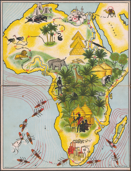 Africa and Pictorial Maps Map By Anonymous