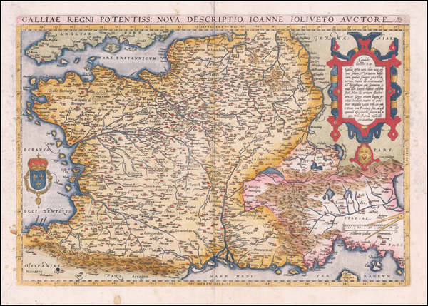 94-France Map By Abraham Ortelius