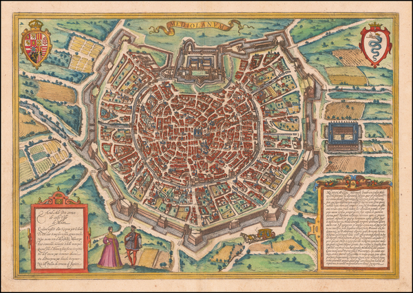 21-Other Italian Cities Map By Georg Braun  &  Frans Hogenberg