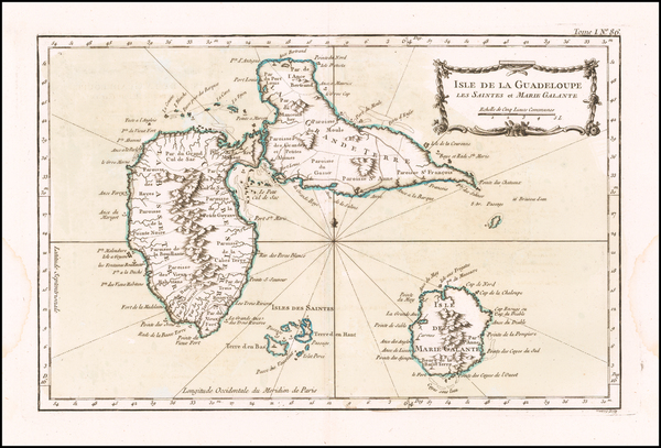 0-Other Islands Map By Jacques Nicolas Bellin