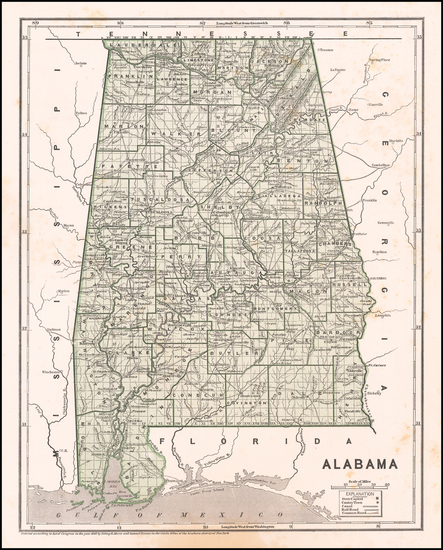 63-Alabama Map By Sidney Morse  &  Samuel Breese