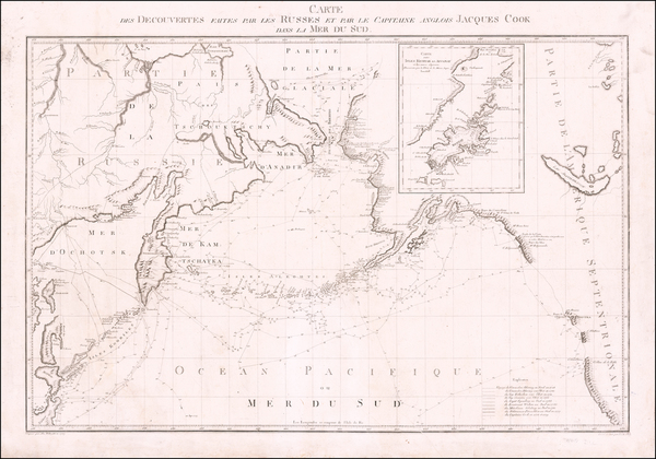 Polar Maps, Pacific Ocean, Pacific Northwest, Alaska and Russia in Asia Map By Alexander Wilbrecht