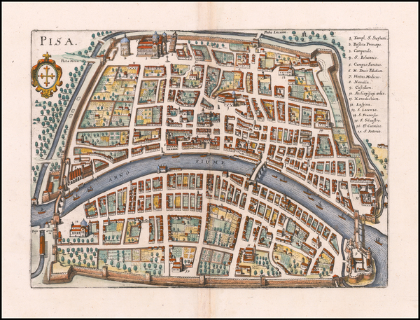 83-Other Italian Cities Map By Matthaus Merian
