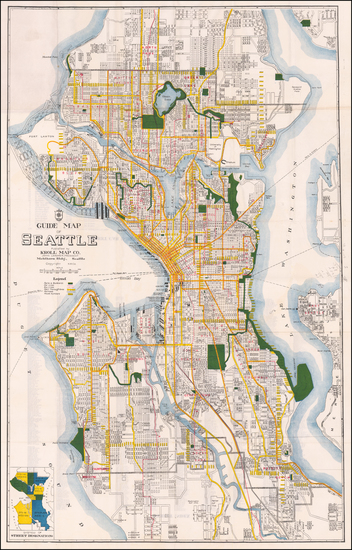 92-Washington Map By Kroll Map Company