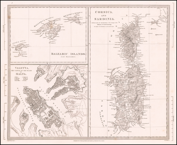 54-Spain, Malta and Sardinia Map By SDUK