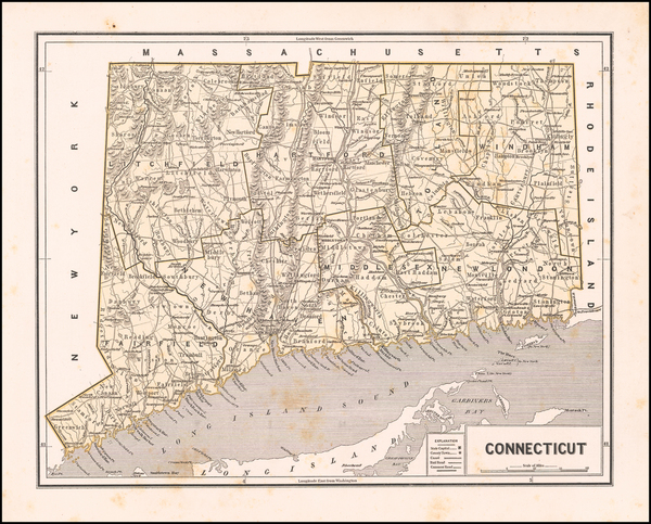 4-Connecticut Map By Sidney Morse  &  Samuel Breese