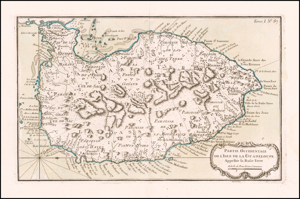 57-Other Islands Map By Jacques Nicolas Bellin