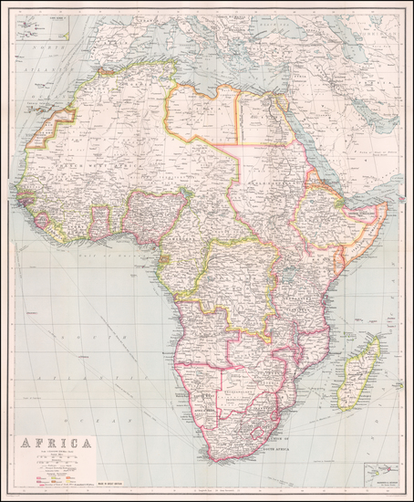 Africa Map By George Philip & Son