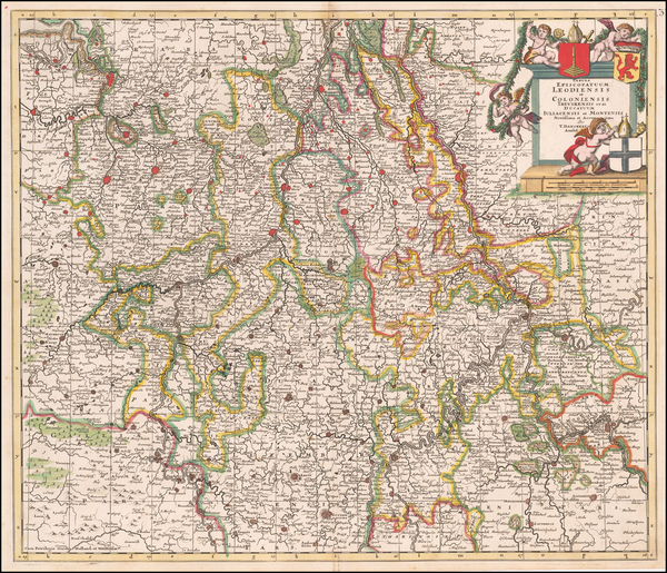 69-Germany Map By Theodorus I Danckerts