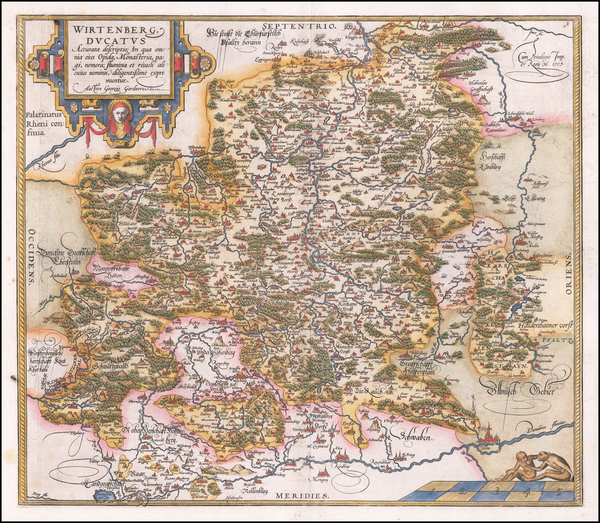 77-Germany Map By Abraham Ortelius