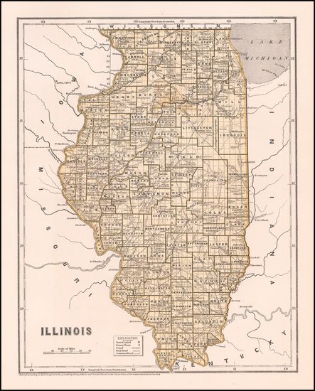 48-Illinois Map By Sidney Morse  &  Samuel Breese