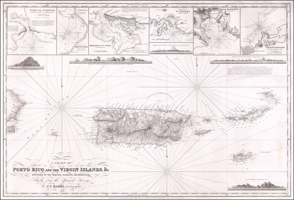 31-Puerto Rico Map By C W Hobbs