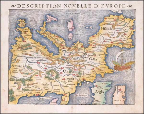 69-Europe Map By Sebastian Munster