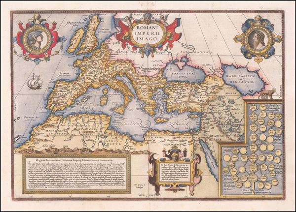 18-Europe, Italy, Mediterranean and Turkey & Asia Minor Map By Abraham Ortelius