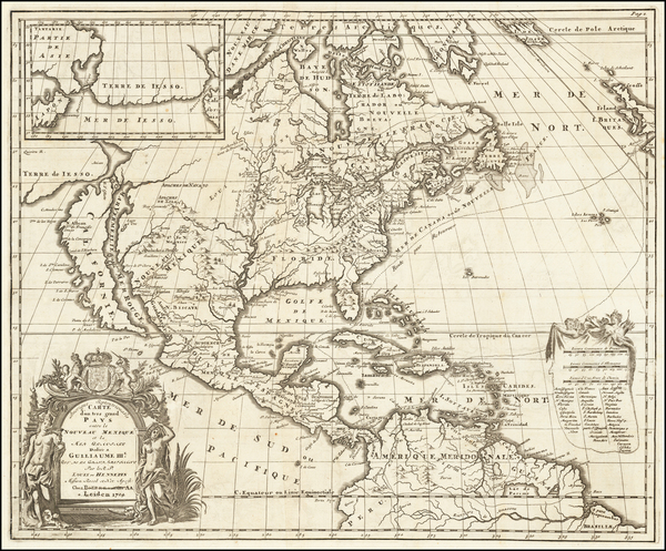 Midwest and North America Map By Louis de Hennepin