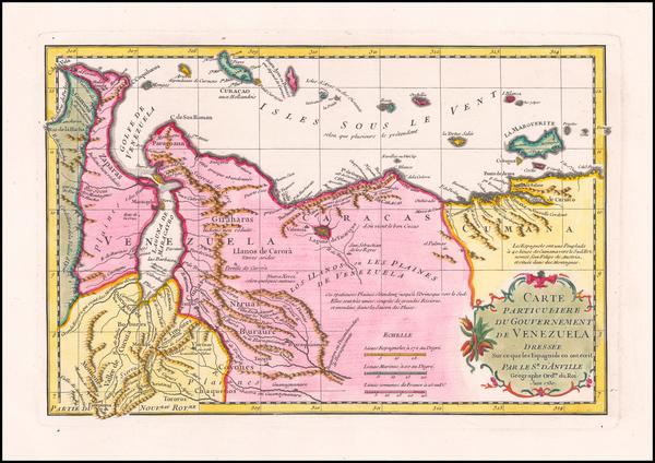30-Venezuela Map By Jean-Baptiste Bourguignon d'Anville